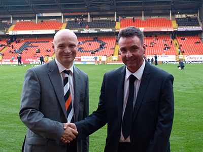 Colin Stewart with Stephen Thompson