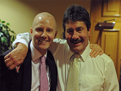 Hamish McAlpine with Steven Hughes