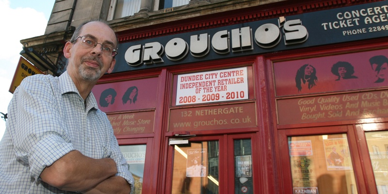 Breeks is the owner of Groucho's, the three-time winning Independent City Centre Retailer of the Year award.
